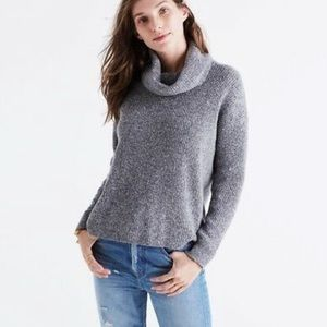 Madewell Marked Convertible Grey Sweater